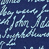 Navy Blue Silk Declaration Signers
