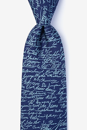 Declaration Signers Extra Long Tie