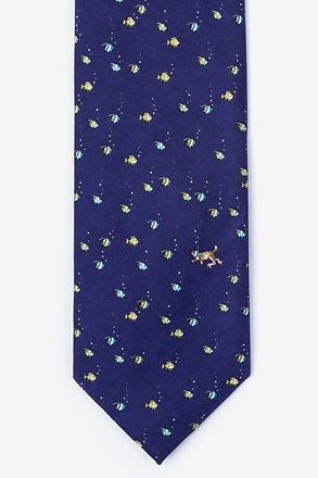 Deep Sea Dining Navy Blue Tie