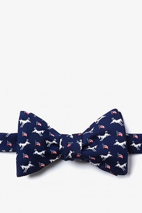 Democratic Donkeys Self-Tie Bow Tie