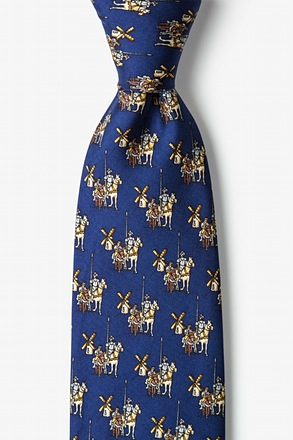 _Don Quixote Navy Blue Tie_