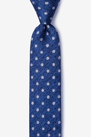 _Dutch Navy Blue Skinny Tie_