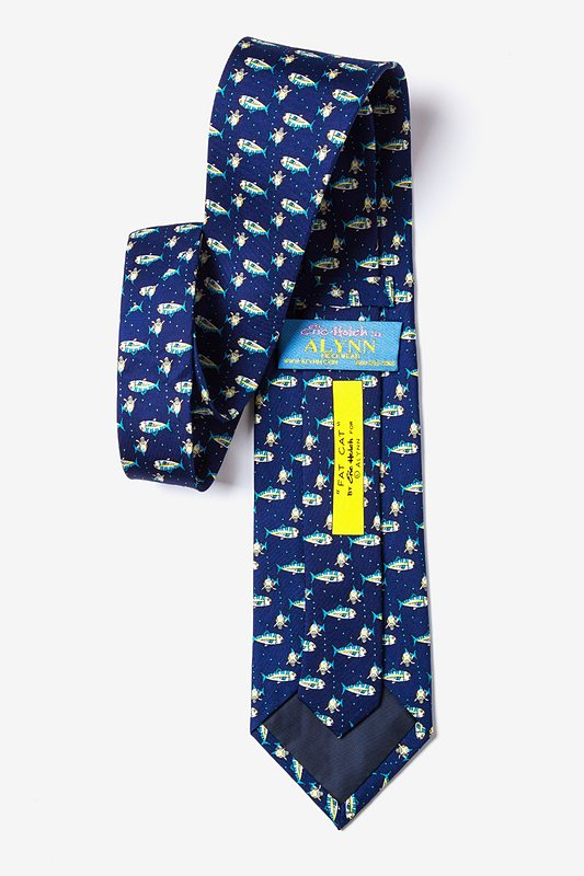 Fat Cat Navy Blue Tie Photo (2)