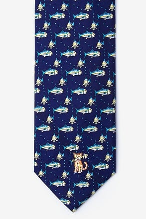 _Fat Cat Navy Blue Tie_