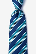 Navy Blue Silk Feale Extra Long Tie