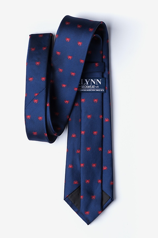 Feelin' Crabby Navy Blue Tie Photo (2)