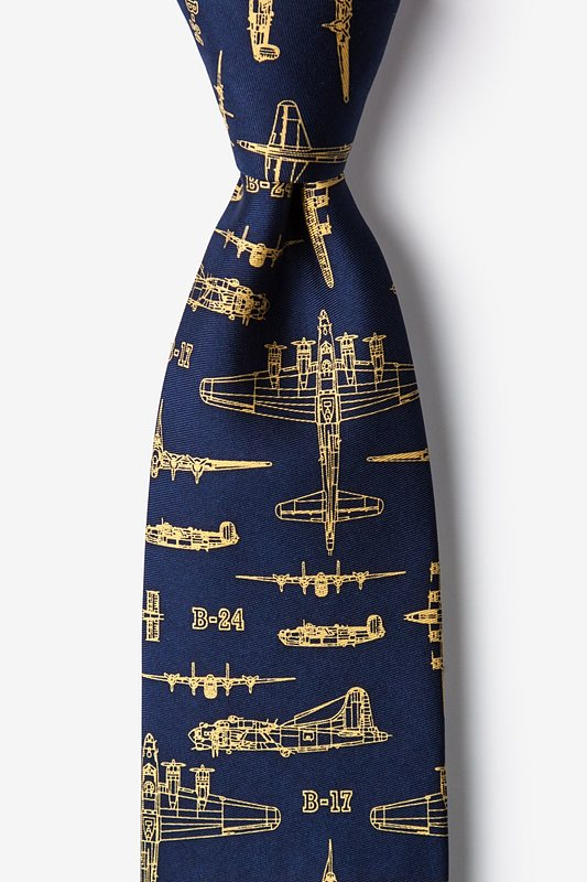 Flying Fortress Navy Blue Tie Photo (0)