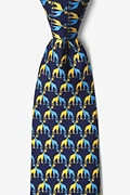 Giraffes Navy Blue Tie Photo (0)