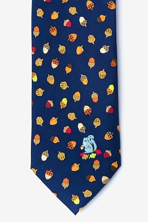 Gone Nuts Navy Blue Tie