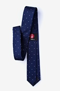 Griffin Navy Blue Skinny Tie Photo (1)