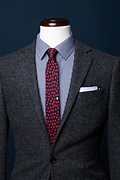 Heart of Gold Navy Blue Skinny Tie Photo (3)