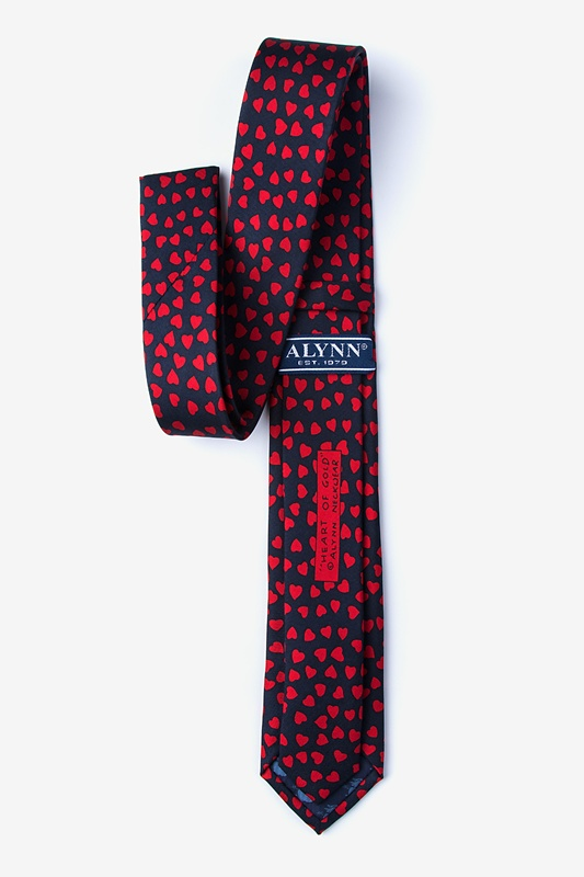 Heart of Gold Navy Blue Skinny Tie Photo (1)