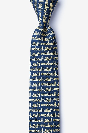 Hello Handsome Navy Blue Skinny Tie