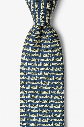 _Hello Handsome Navy Blue Tie_