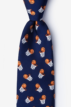 _Hoops Navy Blue Tie_