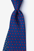 Key to My Heart Navy Blue Tie Photo (0)