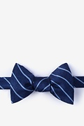 Navy Blue Silk Lagan Bow Tie