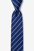 Navy Blue Silk Lagan Skinny Tie