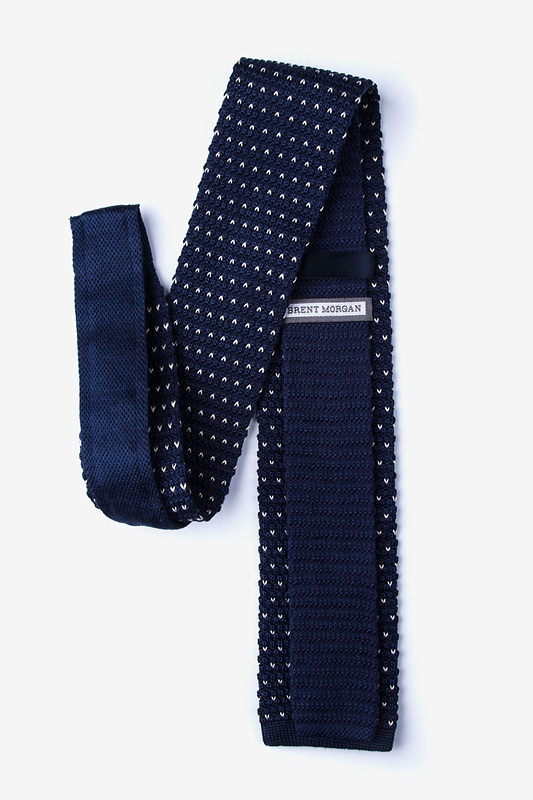 Laos Navy Blue Knit Tie