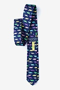 Lator, Gator Navy Blue Skinny Tie Photo (1)