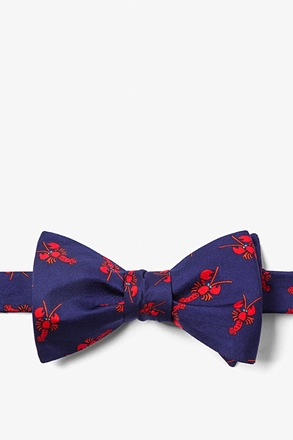 Lobsters Navy Blue Self-Tie Bow Tie
