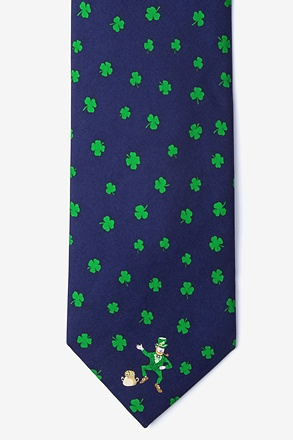 _Luck of the Irish Navy Blue Tie_