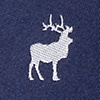 Navy Blue Silk Majestic Elk
