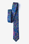 Mellow Melody Navy Blue Skinny Tie Photo (1)