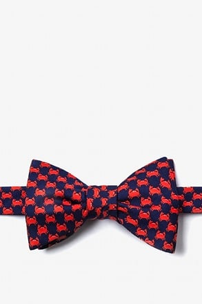 Micro Crabs Navy Blue Self-Tie Bow Tie