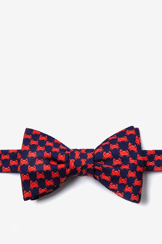 Micro Crabs Navy Blue Self-Tie Bow Tie Photo (0)