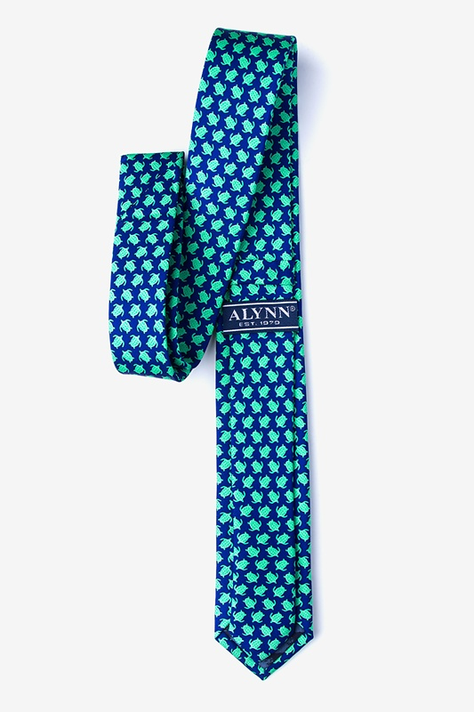 Micro Sea Turtles Skinny Tie