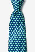Navy Blue Silk Micro Sea Turtles Tie