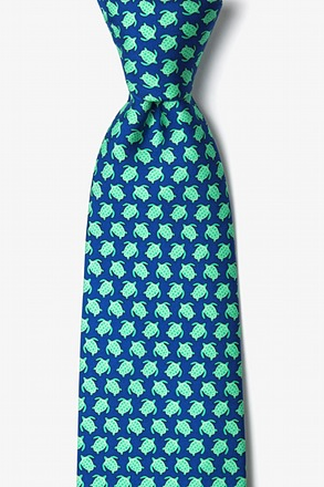 _Micro Sea Turtles Navy Blue Tie_
