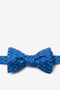 Navy Blue Silk Micro Sharks Butterfly Bow Tie