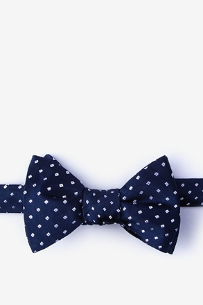 Misool Navy Blue Self-Tie Bow Tie