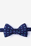 Navy Blue Silk Monkey Bow Tie