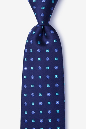 Monkey Navy Blue Extra Long Tie