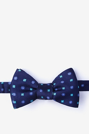 _Monkey Navy Blue Self-Tie Bow Tie_