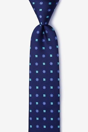 _Monkey Navy Blue Skinny Tie_