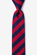 Mulkear Navy Blue Skinny Tie Photo (0)