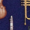 Navy Blue Silk Musical Instruments