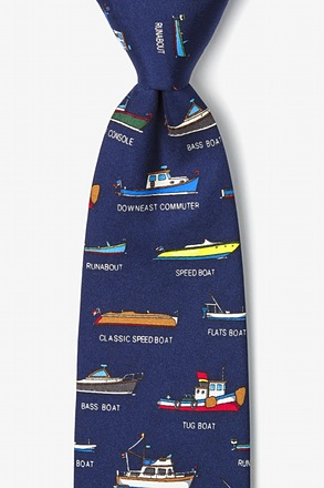 _Name that Powerboat Navy Blue Tie_