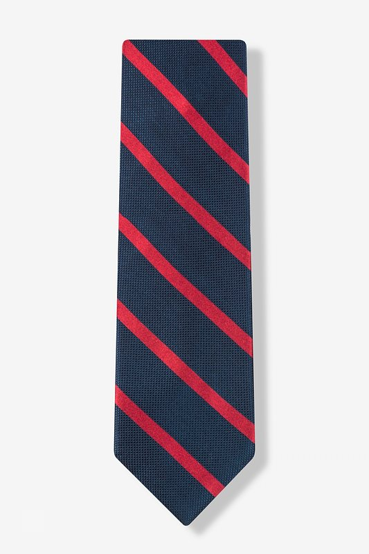 Navy & Red Stripe Tie