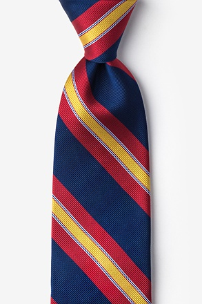 Navy And Red Repp Stripe Tie