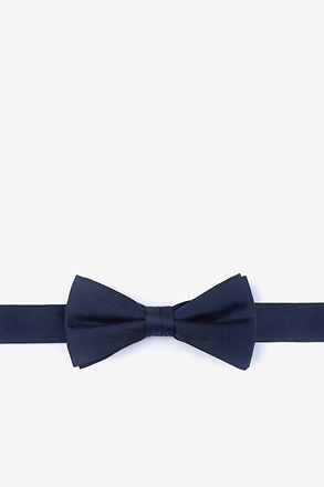 _Navy Blue Bow Tie For Boys_