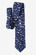 Navy Blue Dig Fossils Extra Long Tie Photo (1)