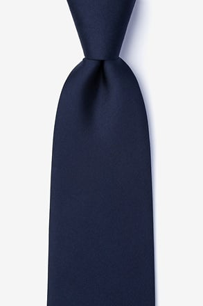 _Navy Blue Extra Long Tie_