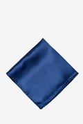 Navy Blue Silk Navy Blue Pocket Square