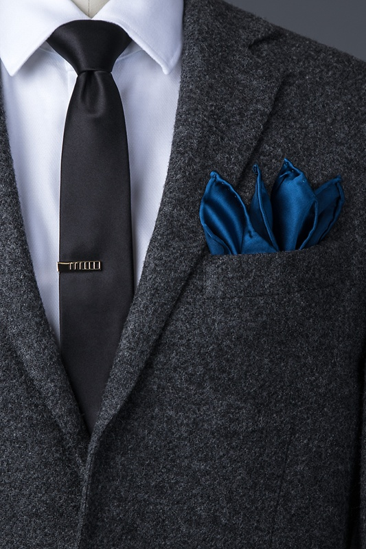 Navy Blue Pocket Square Photo (2)