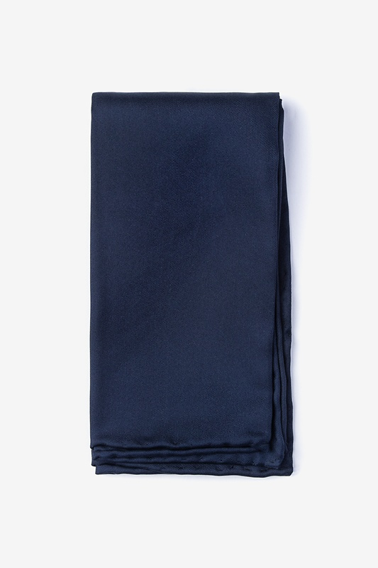 Navy Blue Pocket Square Photo (0)